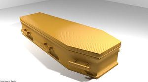 box coffin hexagonal 3D model