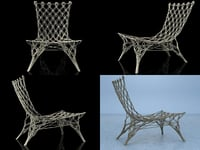 knotted chair cappellini 3D model