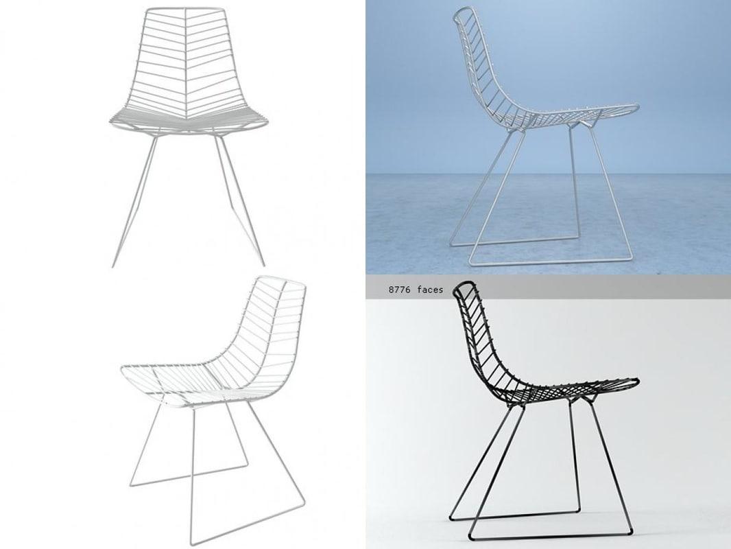 3D leaf chair