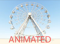 3D ferris wheel modelled model