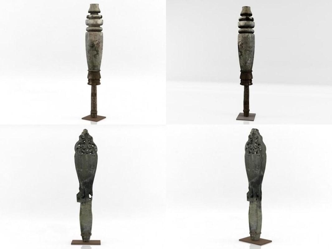 wooden sculptures n 3D