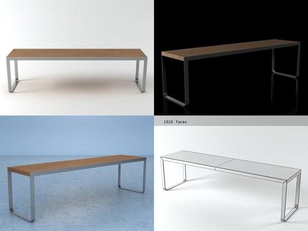 t3 bench 3D model