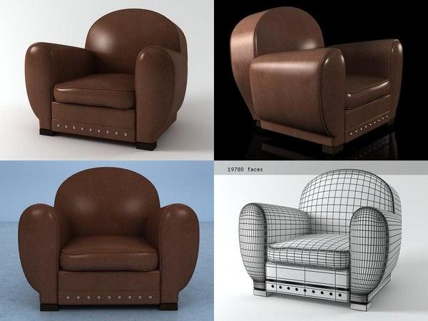 3D panama armchair model