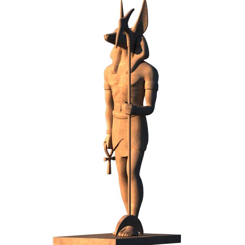 3D anubis egypt protector dead