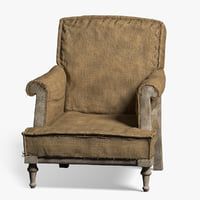 armchair old 3D model