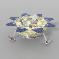 lunar lander 3D model