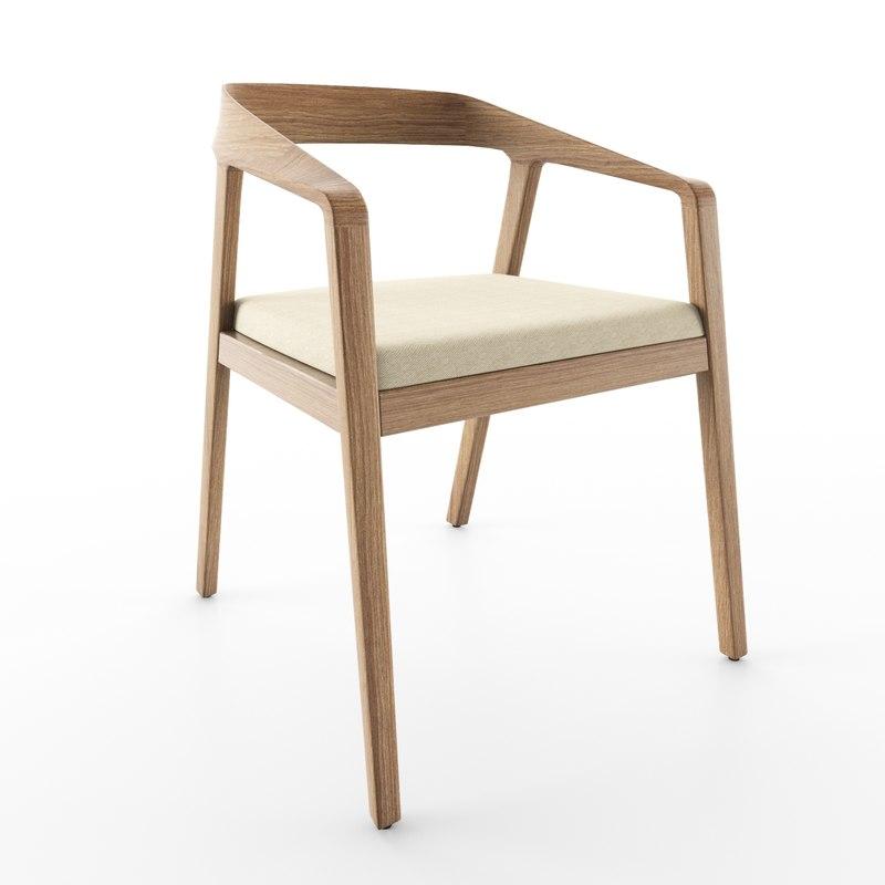 twist guest chair 3D model