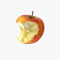 Apple Realistic Half bitten