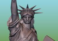 liberty statue ready print 3D model