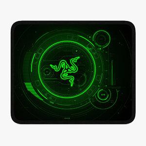 mouse pad 290x240 mm 3D model