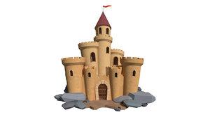 3D model cartoon build animation