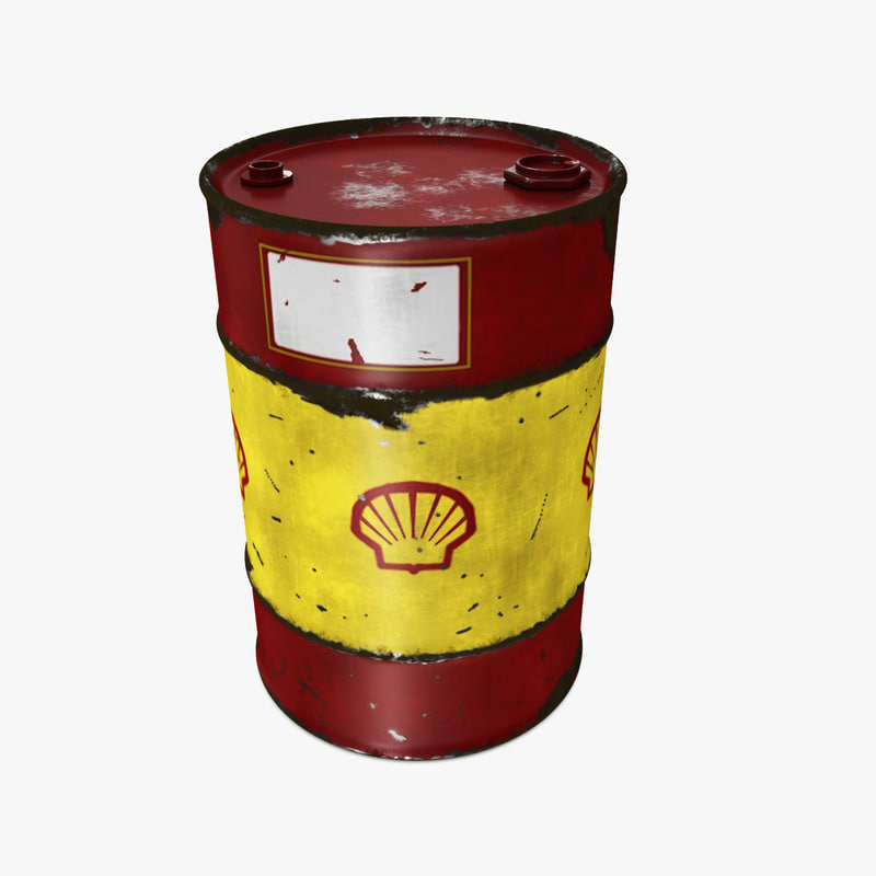 oil drum 200l 3D model