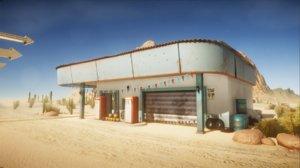 old gas station 3D