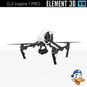 dji inspire 1 pro 3D model