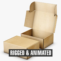 Cardboard Box FEFCO0427 Rigged