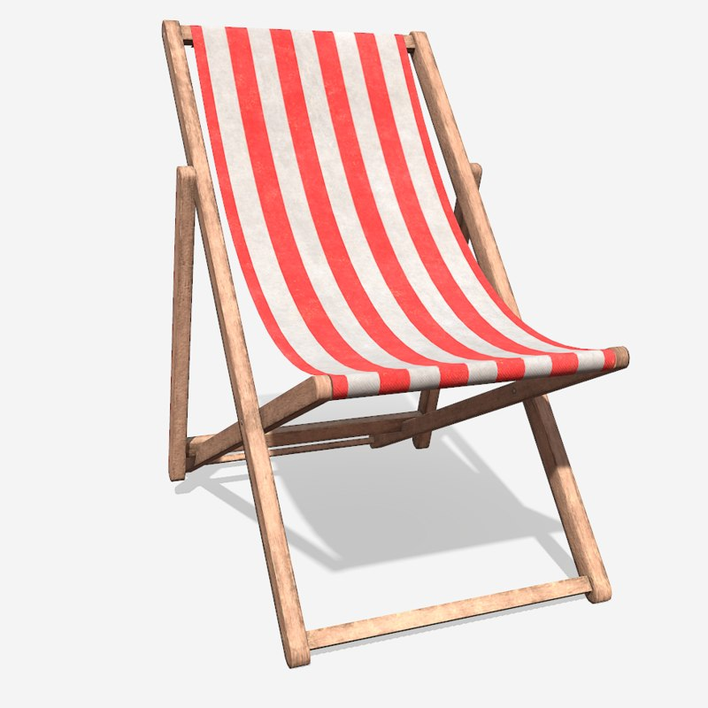 deck chair 3D