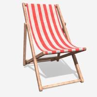 deck chair 3D