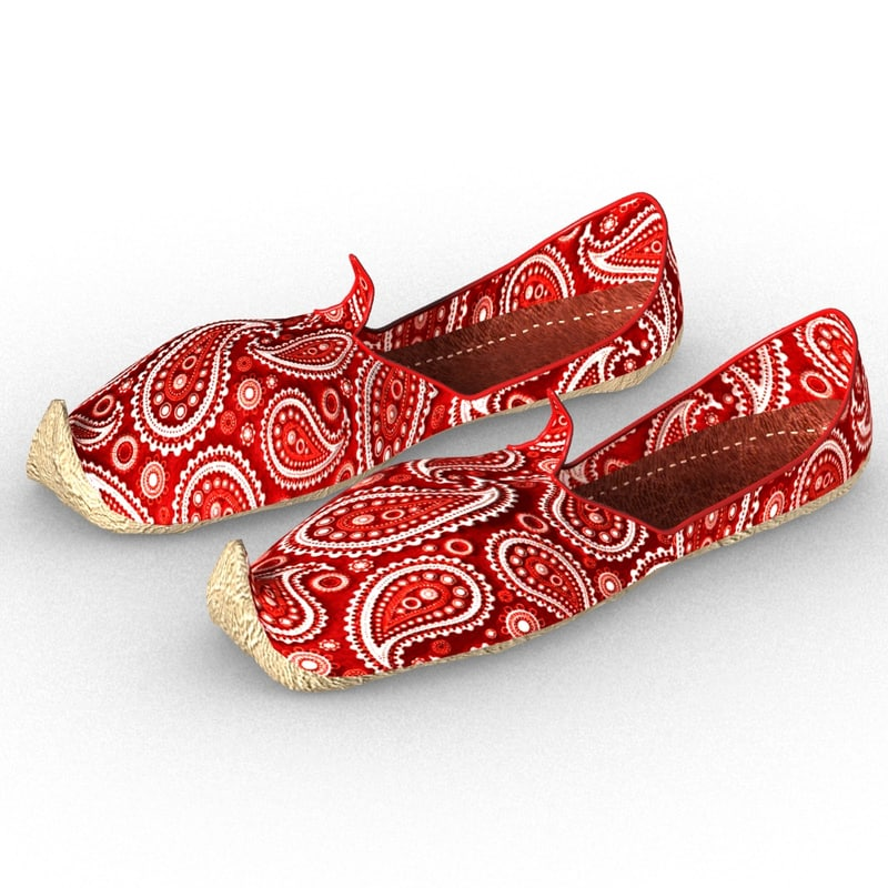 3D punjabi jutti casual shoe