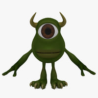 3D cartoon monster cyclops