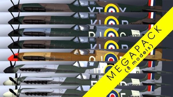 3D supermarine spitfire megapack