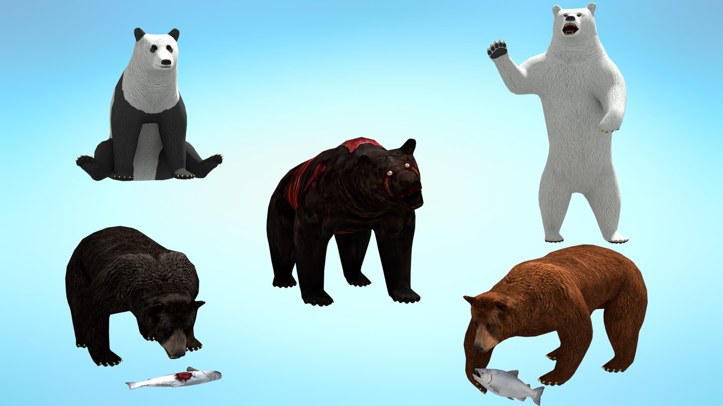 pack bear 1 3D