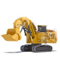 mining excavator 6050 fs 3D model