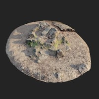 3D nature stone 005 scanned