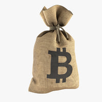 bitcoin money bag 3D