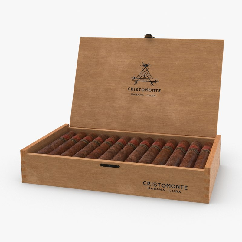 cuban-cigar-box---branded-open model