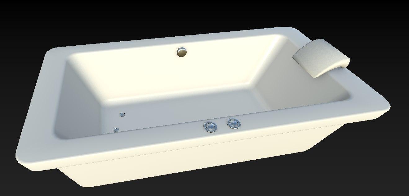 bathtub architectural 3D