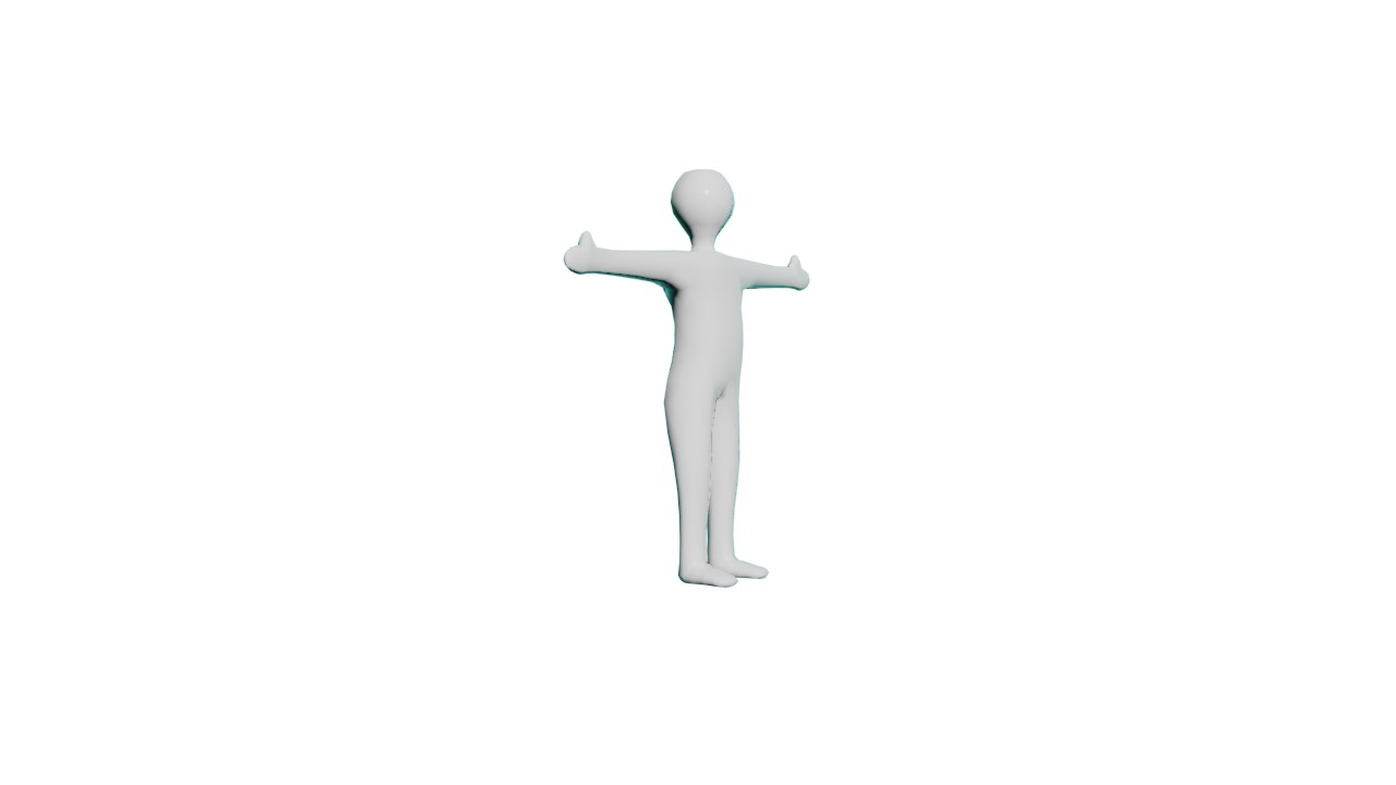 man body 3D model