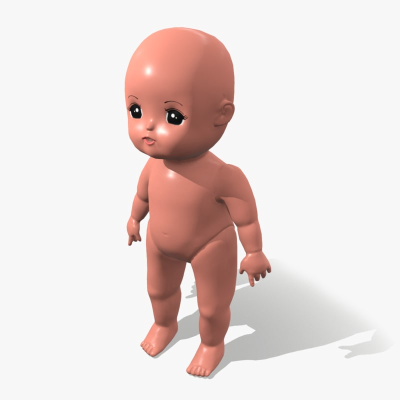 3D mellchan baby doll model