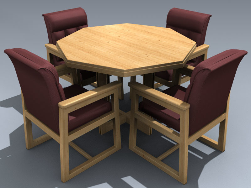3D office conference table