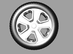 car wheel model