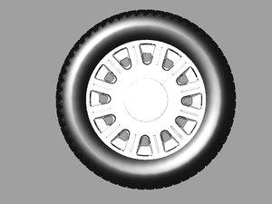 police car wheel 3D model
