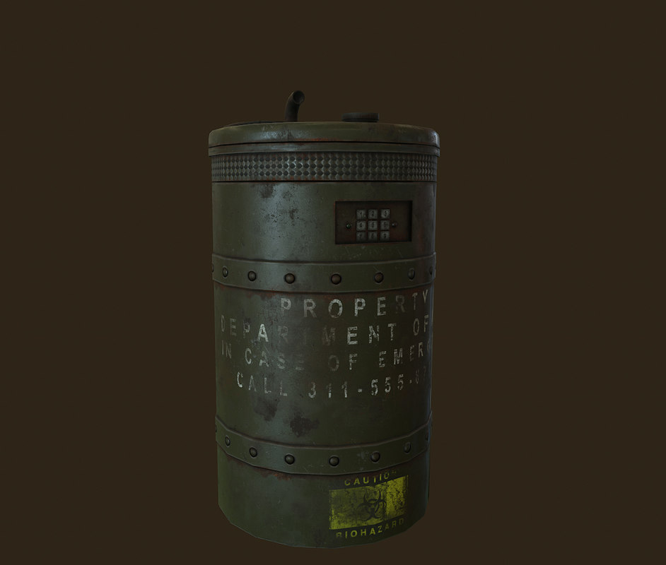 prop barrel 3D model