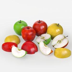 3D apple fruits