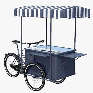 street food bicycle 3D model