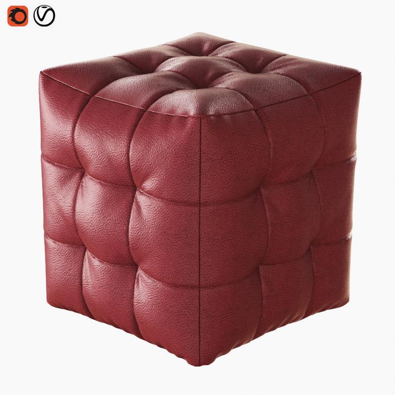 3D pouf