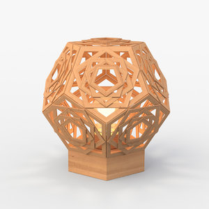 geometric table lamp 3D model