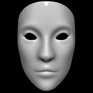 3D model mask