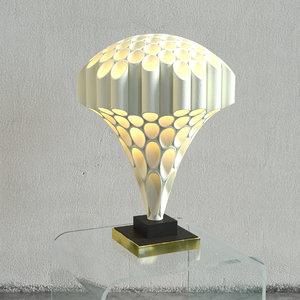 rougier mushroom tube lamp 3D