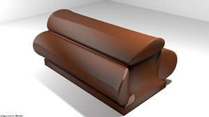 coffin hanging 3D model