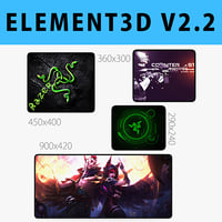 E3D - Mouse Pad Collection model