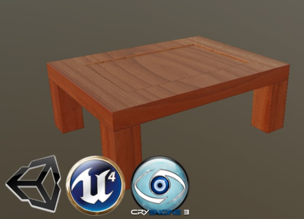 3D stylized coffee table model