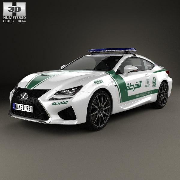 lexus rc f 3D model
