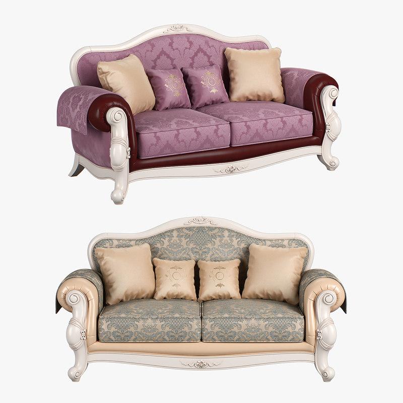 3D model 230 carpenter sofa c