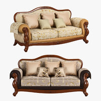 3D 230 carpenter sofa c model