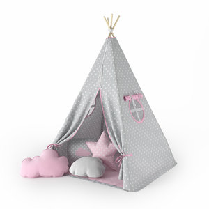 childrens tent wigwam 3D
