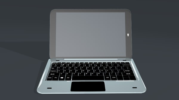 tab laptop 3D model